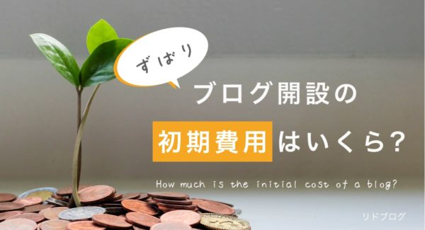 ブログの初期費用っていくらだろう?【低コストで始められます】